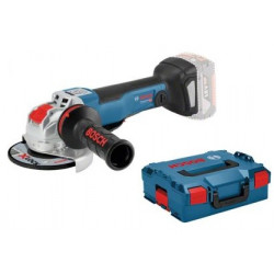 Bosch Blauw GWX 18 V-10 PC X-Lock 18V Li-Ion accu haakse slijper body in L-Boxx - 125mm - koolborstelloos