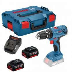 Bosch Blauw GSB 18V-21 Professional Accuklopboorschroevendraaier | 2x 5.0Ah Li-Ion in L-Boxx