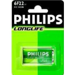 Philips Philips Longlife 9V batterij 6F22 blister 1