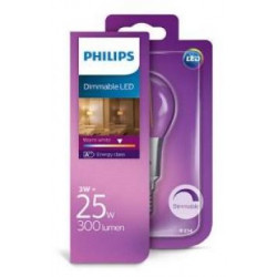 Philips  LED kogel E14 3W Filament Blister