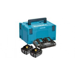 Makita Accessoires 197629-2 starterset 18V Li-Ion 2x 5,0Ah + duolader in Mbox - BL1850 - DC18RD