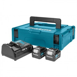 Makita Power source kit: DC10SA lader + 2x BL1040B 10,8V Li-Ion schuifaccu - 4,0Ah