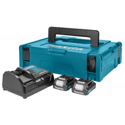 Makita Accessoires Power source kit: DC10SA lader + 2x BL1020B 10,8V Li-Ion schuifaccu - 2,0Ah