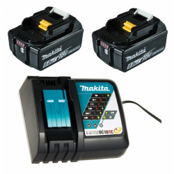 Makita Power-Source-Kit 199480-6 - 2x Accu BL1860B 18V 6,0Ah met accu indicator + Oplader DC18RC