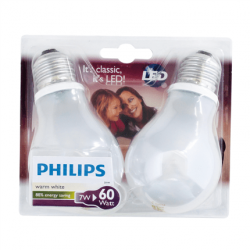 Philips LED lamp E27 7W 806Lm classic mat 4 stuks