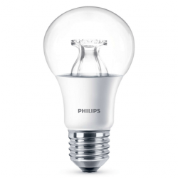 Philips Led Lamp E27 8,5W 806lm Kogel Helder Dimbaar