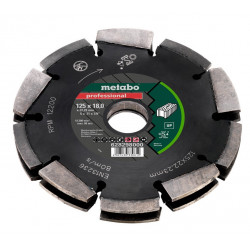 "Metabo accessoires Diamant-Freesschijf-2, 125x18x22,23mm, ""professional"",""UP"", Universeel"
