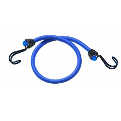 Masterlock Set of 2 bungees 120cm - colour : dark bluedouble reverse hook