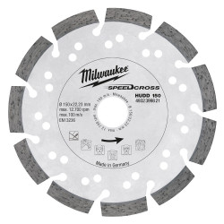 Milwaukee Accessoires SpeedCross diamantslijpschijf HUDD 150