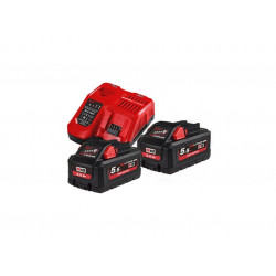 Milwaukee Accessoires M18 HNRG-552 - M18 HB5 DUO Pack 18V 5.5Ah High Output + Lader M12-18F