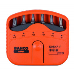Bahco bits set 7pcs ph,pz,torx | 59S/7-1
