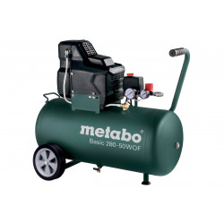 Metabo Basic 280-50 W OF Compressor 1,7 kW Olievrij