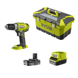Ryobi RCD18-120T 18V Cli-Ion Boormachine 2-snelheden + Lader & 1x 2.0A in Toolbox