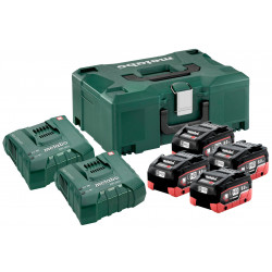 Metabo 18V LiHD Accu Basis-set 4 x 8.0Ah accu + 2x lader in Metaloc | 685135000