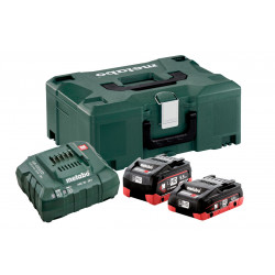 Metabo 18V LiHD Basis-set 1 x 4.0Ah + 1 x 5.5Ah accu + lader in Metaloc | 685136000