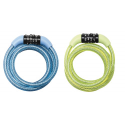 Masterlock Self coiling cable 1.20m x Ø 8mm with fixed combination 3 digitsvinyl