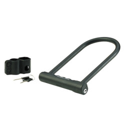 Masterlock U bar with steel shackle 200mm x 100mm x Æ 12mm w/2 keyscolour : blac