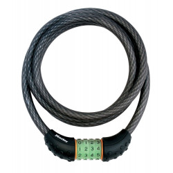 Masterlock Steel cable 1.20m x Ø 10mm with resettable combination 4 digitsvinyl