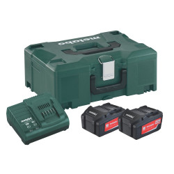 Metabo accessoires Basis-set: Accu-packs + lader Basisset 18 V: 2 x 4.0 Ah, lader ASC 30-