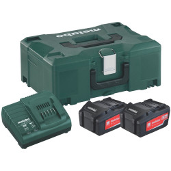Metabo accessoires Basis-set: Accu-packs + lader Basisset 18 V: 2 x 5.2 Ah, lader ASC 30