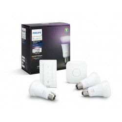 Philips Hue White and color ambiance Starterkit E27 - 3x E27-lamp, bridge en dimmer