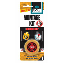 Bison Montagekit Direct Grip Tape Crd 1.5Mx19Mm*6 Nlfr - 6306369