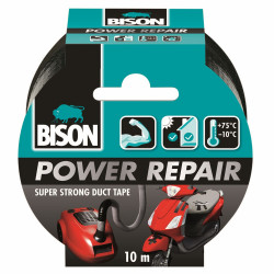 Bison Power Repair Tape Zwart Rol 10M*6 Nlfr - 6311861