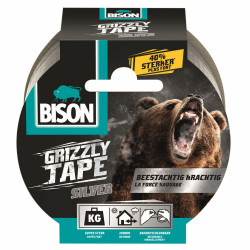 Bison Grizzly Tape Zilver Rol 25M*6 Nlfr - 6311853