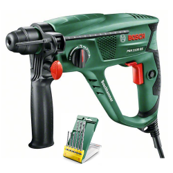 Bosch Groen PBH 2100 RE Boorhamer | + Promoline 6-dlg SDS plus S2 set