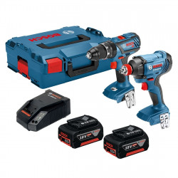 Bosch Blauw GSB 18V-28 Professional Accuklopboorschroevendraaier + GDX 18 V-180 Accu Slagschroevendraaier | 4.0Ah Li-Ion in L-Boxx