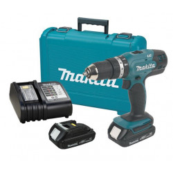 Makita DHP453SYE 18 V Li-ion klopboormachine in koffer | 2 accu's