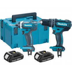 Makita DLX2131JH 18V accu klopboormachine DHP482 + slagschroevendraaier DTD152 combiset (2x 1.5Ah accu) in Mbox
