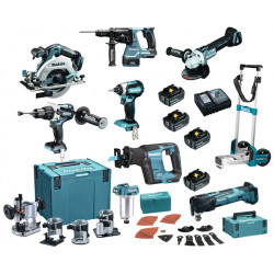 Makita DLX8022TJ2 Accu Combiset 18V 5,0Ah incl. Trolley in Mbox