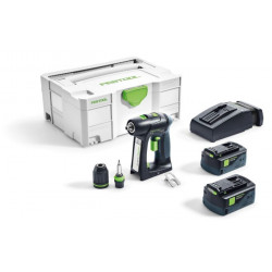 Festool C 18 LI 5,2 PLUS Accuschroefboormachine | 18v 5.2Ah Li-ion