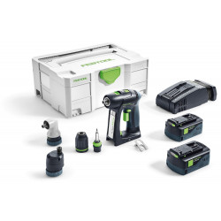 Festool C 18 LI 5,2 SET Accuschroefboormachine | 18v 5.2Ah Li-ion
