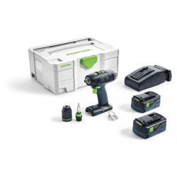 Festool T 18+3 Li 5,2 Plus Accuschroefboormachine | Li-ion 5.2Ah