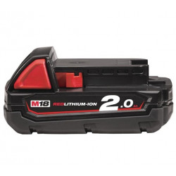 Milwaukee M18 B2 Accu (18 V / 2.0 Ah Li-Ion)