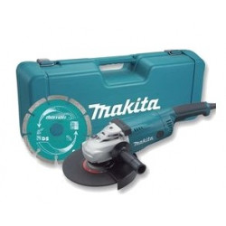 Makita GA9020KD | 230mm haakse slijper in koffer | + diamantschijf