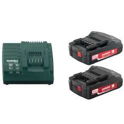 Metabo Basis-set 2x 18 volt 1.5Ah accu's | Pick+Mix