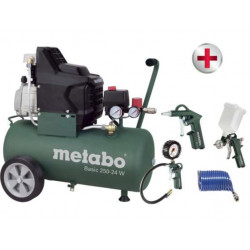 Metabo Basic 250-24 W Compressor + LPZ-4 toebehorenset - 690836000