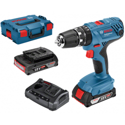 Bosch Blauw GSB 18V-21 Professional Accuklopboorschroevendraaier | 2.0Ah Li-Ion in L-Boxx