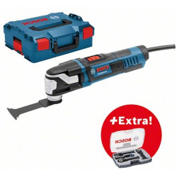Bosch Blauw GOP 55-36 Professional oscillerende multitool in L-BOXX + 4-delige accessoireset in L-BOXX