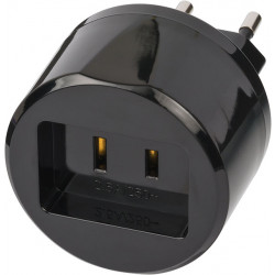 Brennenstuhl Travel Adapter USA => Euro with 2,5A fuse| per 5