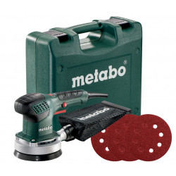 Metabo SXE 3125 Set excenterschuurmachine 310w 125mm | in koffer + 25 schuurbladen