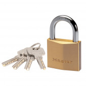 Masterlock 30mm thick solid brass body - 17mm hardened steel shackle, 5mm diam. - - 2930EURD