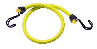 Masterlock Set of 2 bungees 100cm - colour : yellowdouble reverse hook