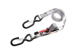 Masterlock Set of 4 spring clamp tie downs with zamac buckle and S hooks 1,80m -