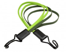 Masterlock Multi cords flat bungee 70cm with 4 cords of 4mm - colour : kaki and l