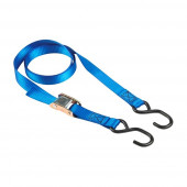 Masterlock Set of 2 spring clamp tie downs 2m with S hooks - colour : blue