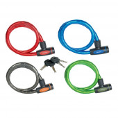 Masterlock Keyed armoured cable 1m x Ø 18mm w/4 keysvinyl cover - colours : blac
